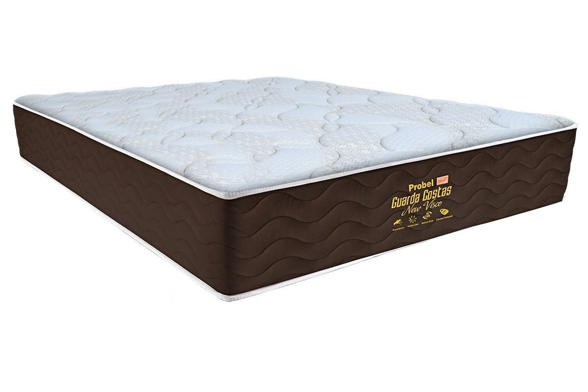 Colchão Probel New Visco Guarda CostasColchão King Size - 1,93x2,03x0,30 - Sem Cama Box